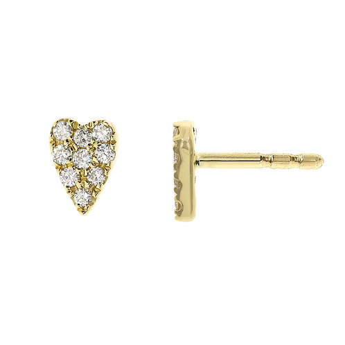 BL Icons Long Heart Studs