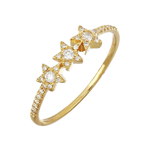 Simple Obsession Three Star Ring