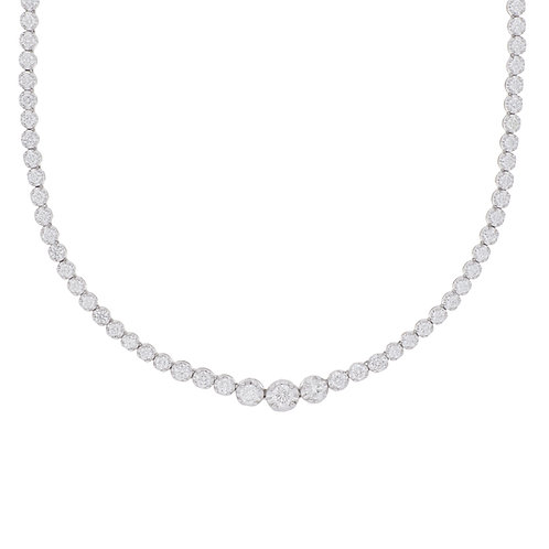 Lux Diamond Tennis Necklace