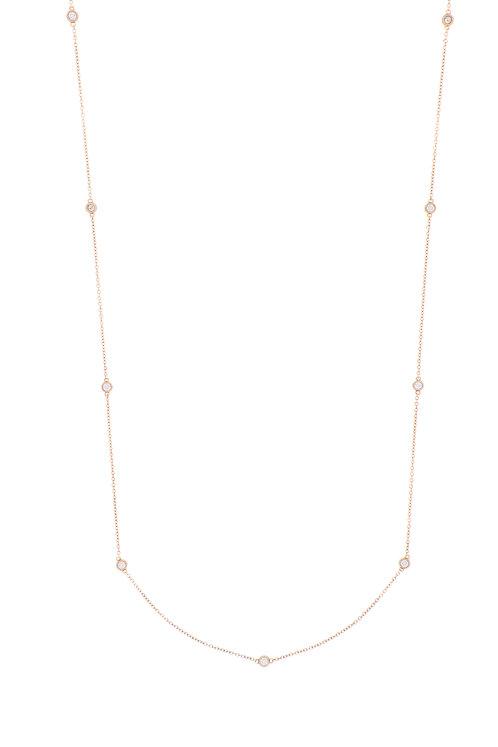 Diamond Bezel Station Necklace