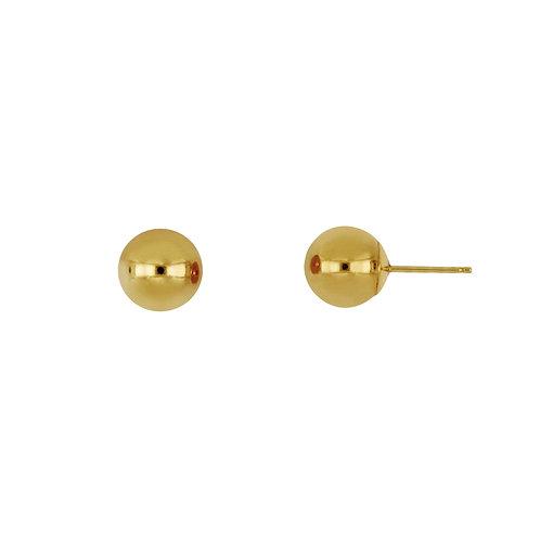 Bony Levy Gold 8MM Ball Stud Earrings