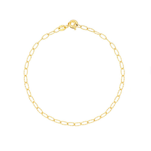 Bony Levy Gold Textured Chain Bracelet