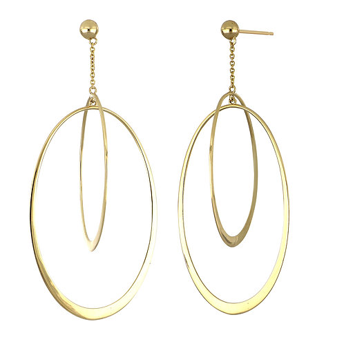 14K Large Oval Drops
