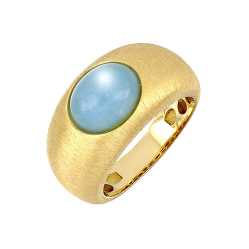 Iris Bold Milky Aqua Ring