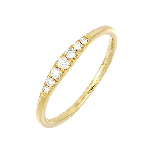Graduated Diamond Stackable Ring