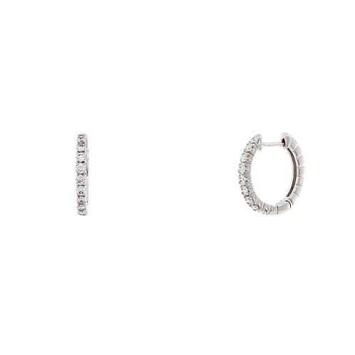 Liora Small Diamond Hoops