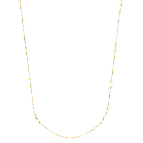 Bony Levy Gold Beaded Station Necklace