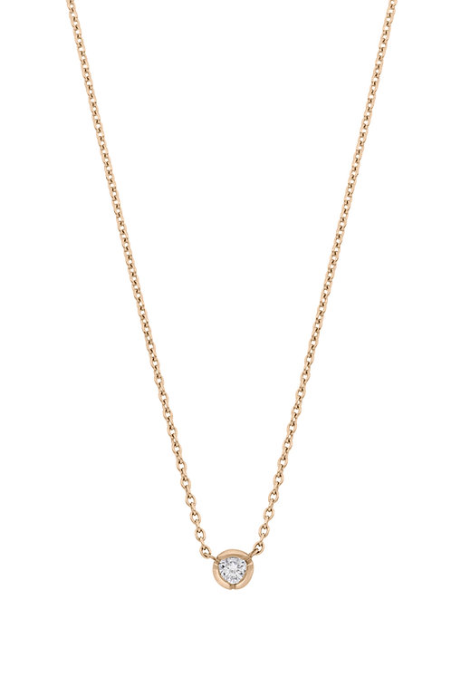 0.05 Rose Gold Bezel Pendant