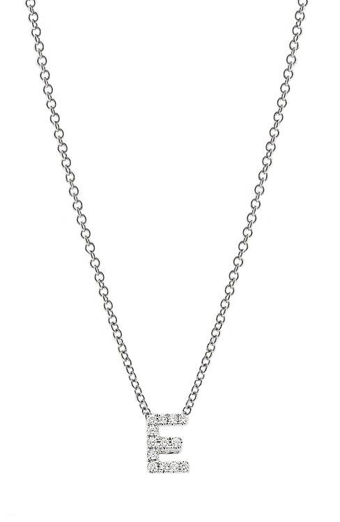"Single Initial Diamond Pendant - ""E"""