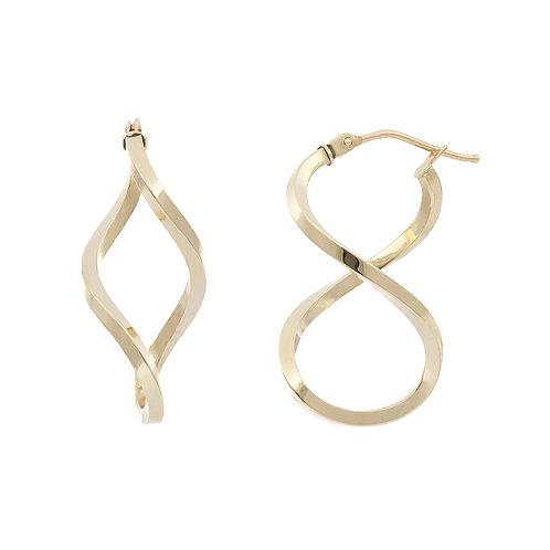 Bony Levy Gold Twisted Hoops Earrings