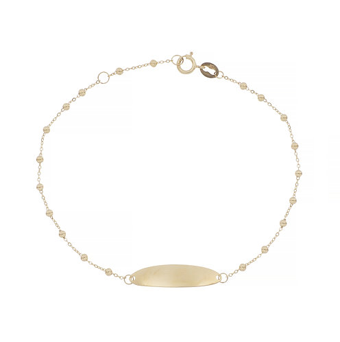 Bony Levy Gold Beaded ID Bracelet