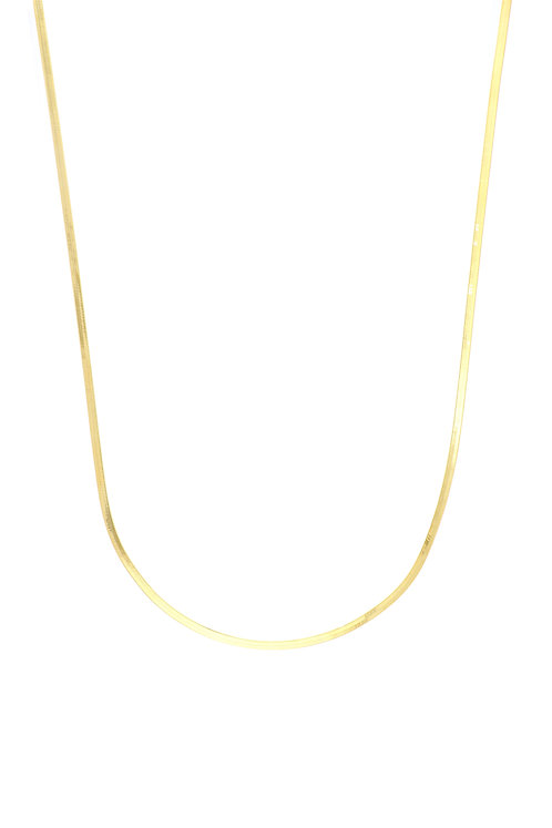 14K Gold Herringbone Necklace