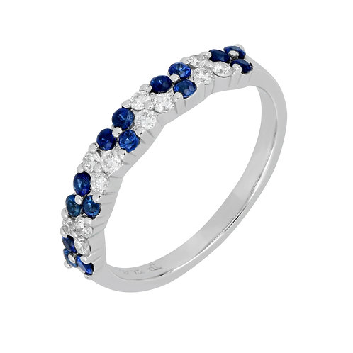 Sapphire and Diamond Stackable