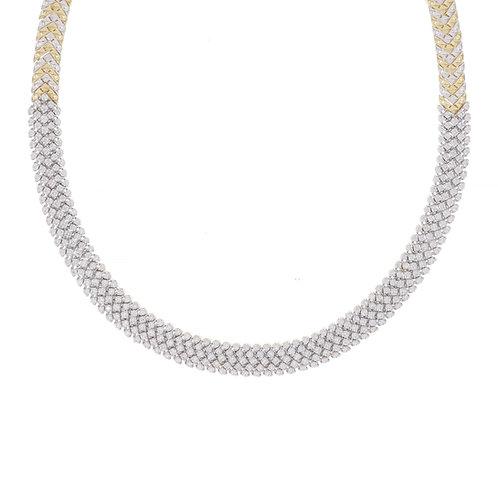 Varda Lux Woven Tennis Necklace