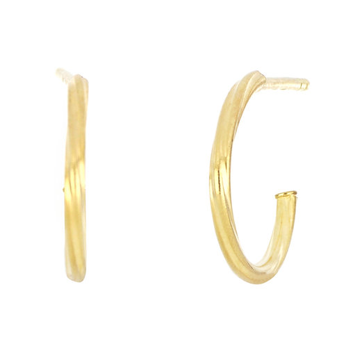 BLG SMALL THIN TWISTED HOOPS