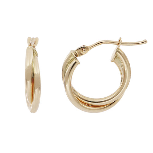 Bony Levy Gold Twisted Rope Hoops