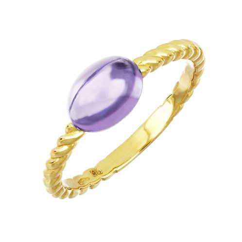 Iris Cabochon Amethyst Ring