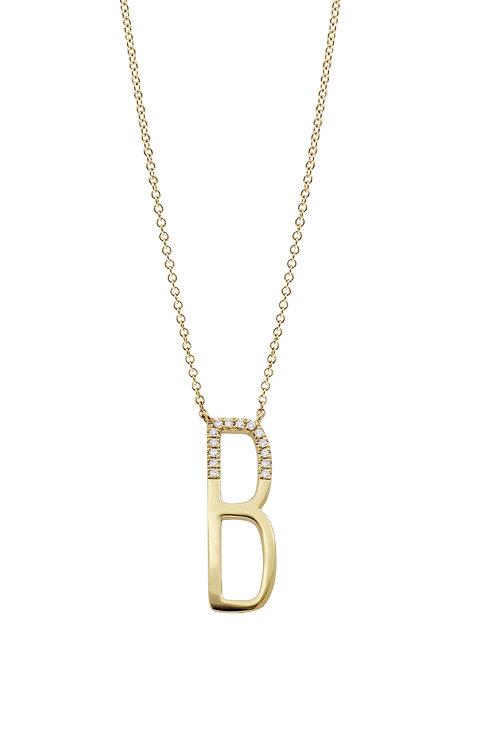 Kiera Initial Pendant 'B'