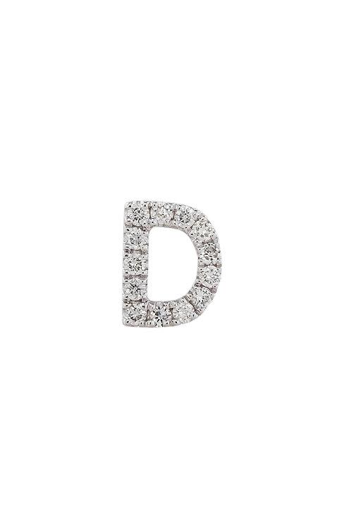 "Single Initial Diamond Stud - ""D"""