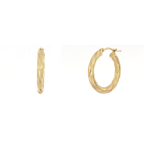 Bony Levy Gold Textured Wide Hoops