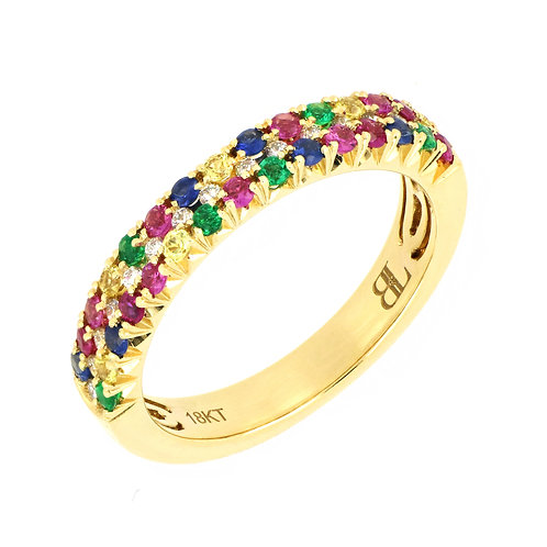 Mixed Stones Stackable Ring