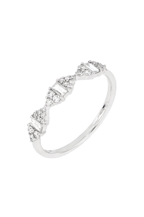 MIKA 3 CLUSTER DIA MARQUIS SHAPE RING