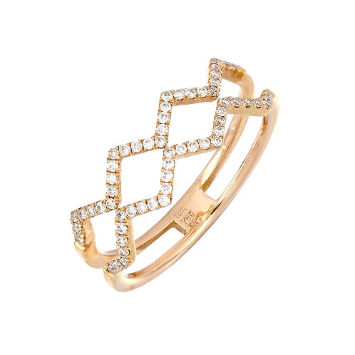 Open Geometric Diamond Wide Band