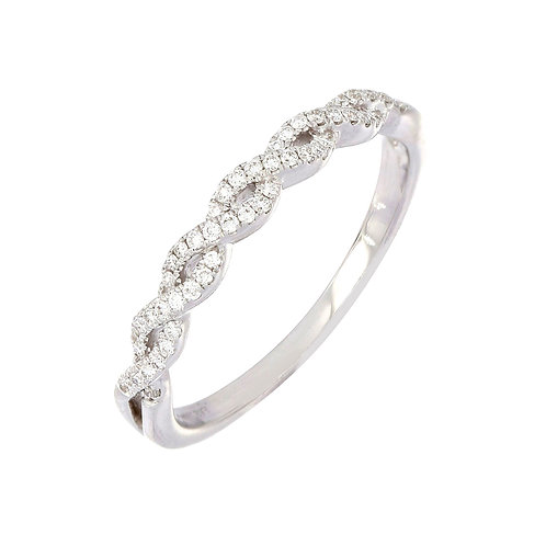 Woven Stackable Diamond Ring