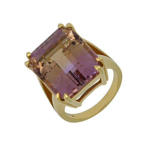 Ametrine Cocktail Ring
