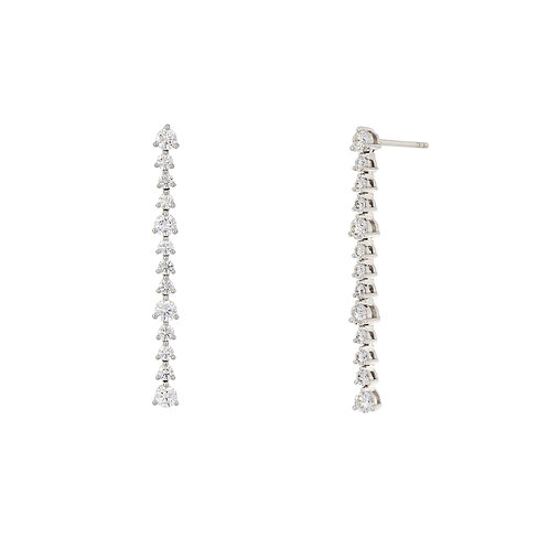 Audrey Linear Diamond Earrings