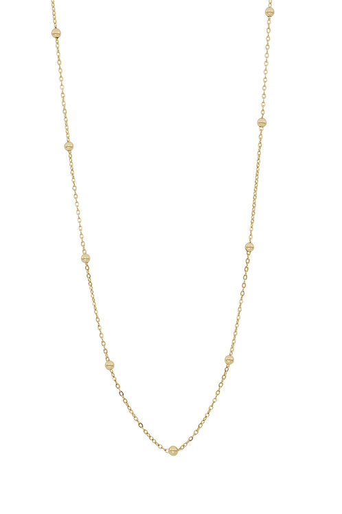 Bony Levy Gold Ball Beaded Station Chain