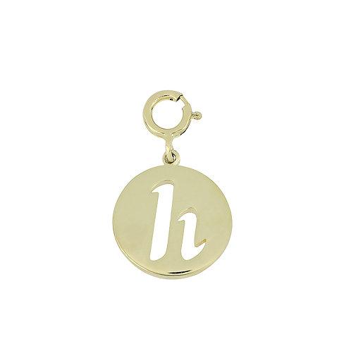 "14K Initial Charm - ""H"""