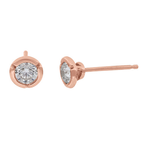 0.50 Rose Gold Bezel Studs