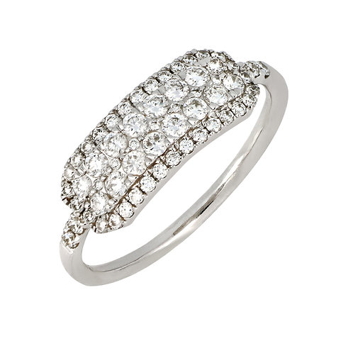 Mika Elongated Cushion Stackable Ring