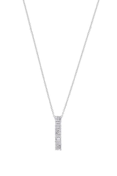 Gatsby Mixed Diamond Pendant