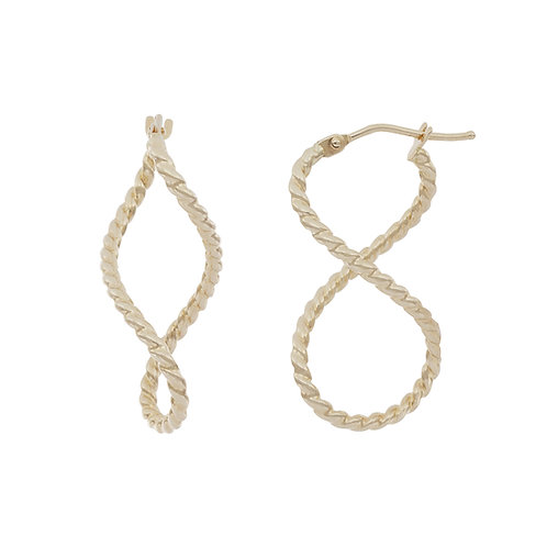 Bony Levy Gold Twisted Rope Hoops Earrings