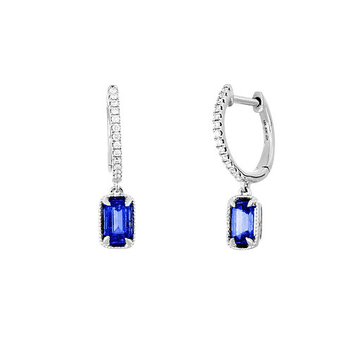 El Mar Sapphire Drop Earrings