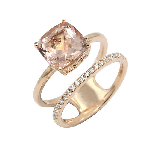 Two Row Morganite