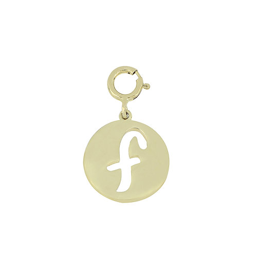 "14K Initial Charm - ""F"""