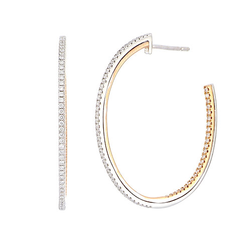 Two-Tone Inside Out Hoops