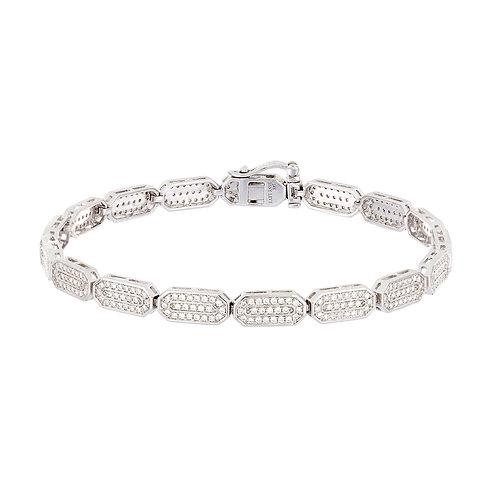 Geometric Eternity Diamond Tennis Bracelet