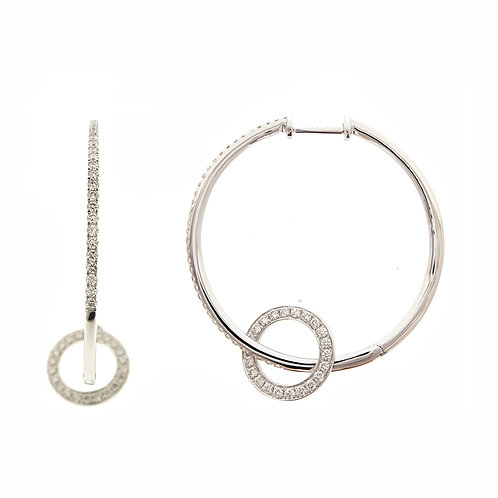 Large Double Circle Hoops