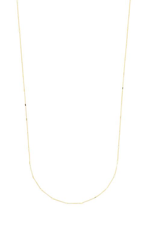 14K Gold Wheat Station Necklace