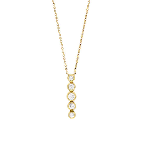 Bezel Vertical Diamond Bar Pendant