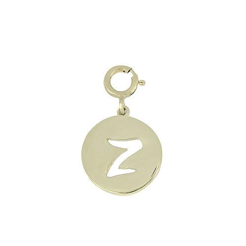 """14K Initial Charm - """"Z"""""""