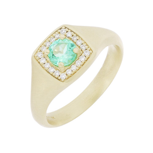 Columbian Emerald Small Signet Ring