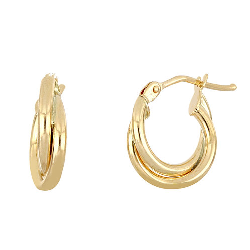 Bony Levy Gold Double Twisted Hoops