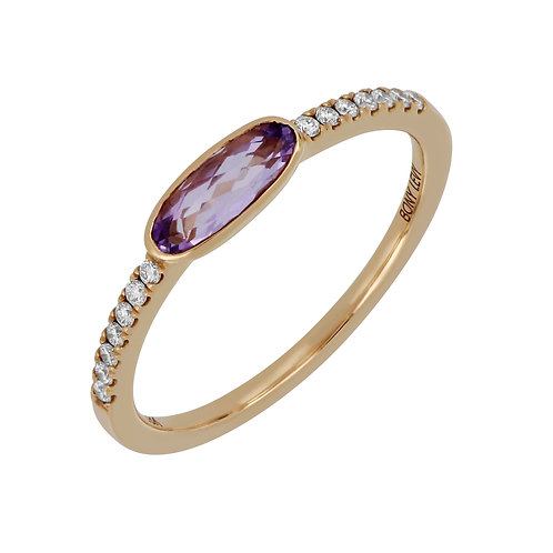 Summer Sunset Oval Stackable Ring