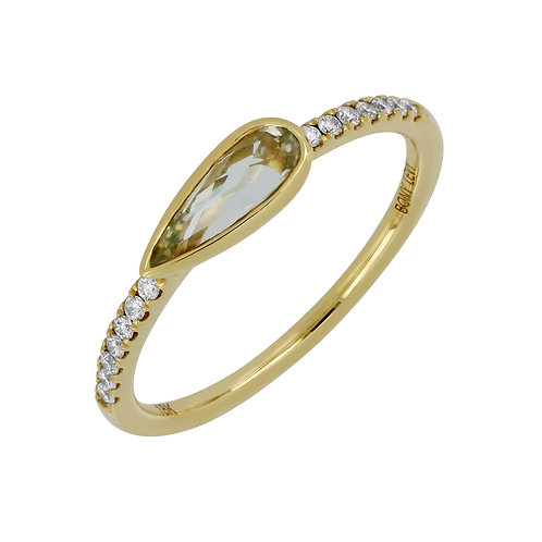 SummerSunset Pear Stackable Ring