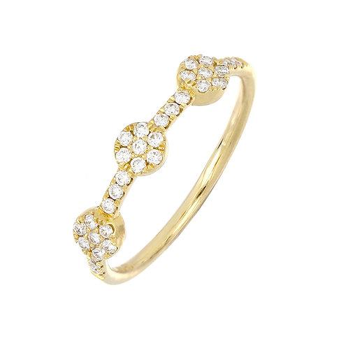 Three Dot Diamond Stackable Ring